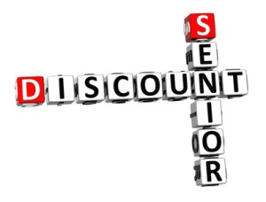 You need to ASK!   Senior Discounts