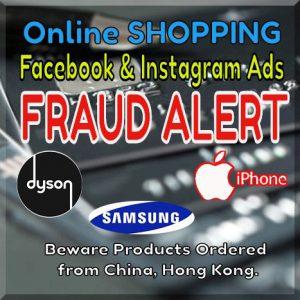Fraud Shopping Ads Facebook / Instagram